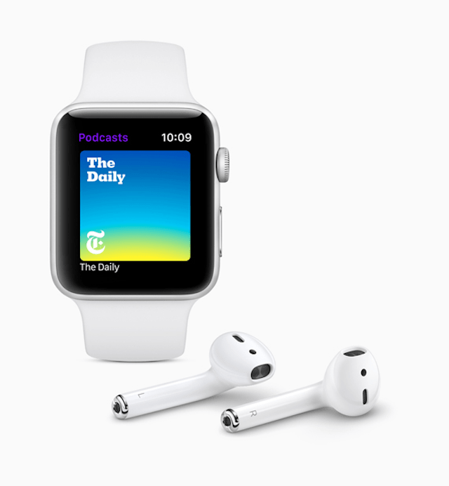 Los podcast llegan a Apple Watch
