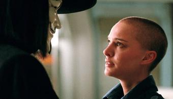 Una imagen de V de Vendetta, película