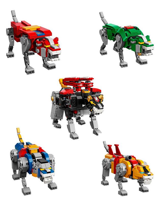 El set oficial de Voltron realizado por Lego