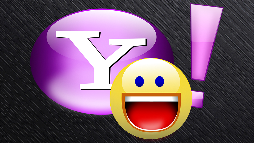 El logo de Yahoo Messenger con fondo negro