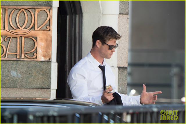 Así luce Chris Hemsworth en el rodaje de Men in Black 4
