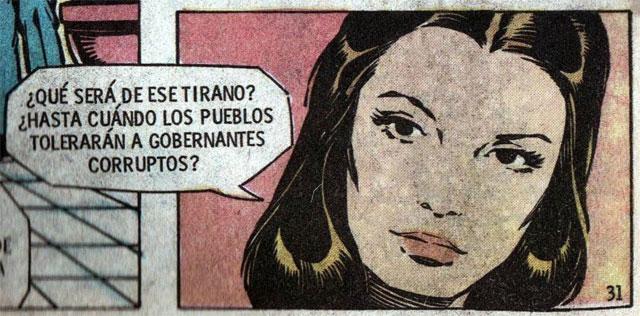 Imagen del interior del cómic de Fantomas