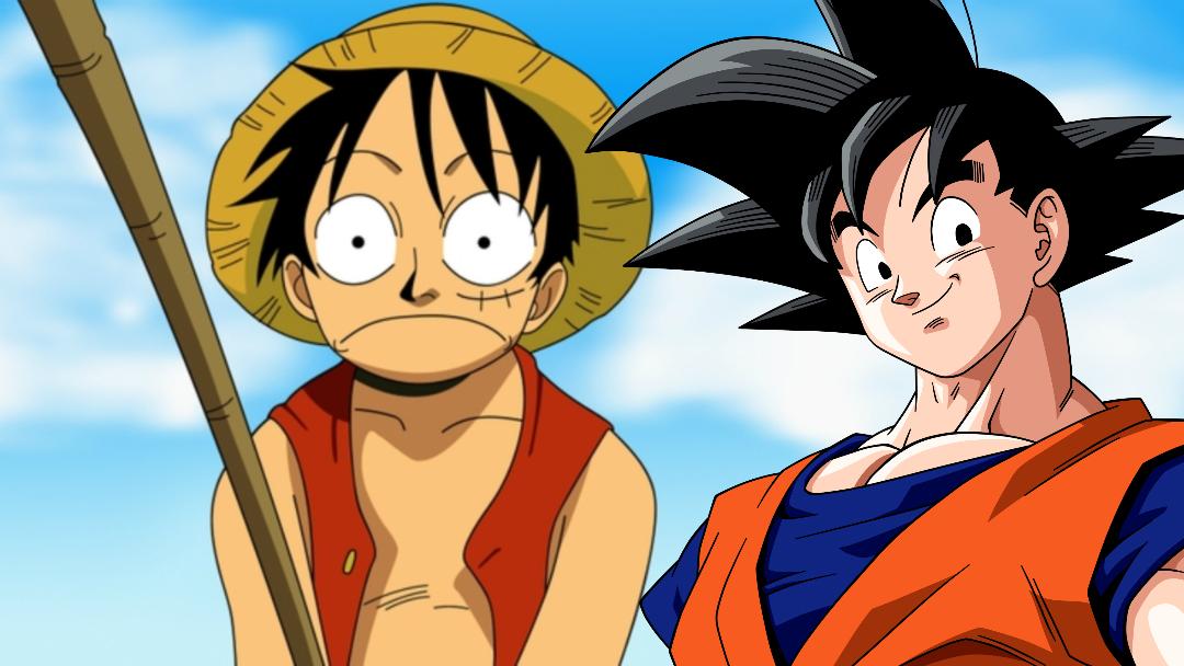 Juntos Goku y Luffy, las estrellas de Dragon Ball y One Piece
