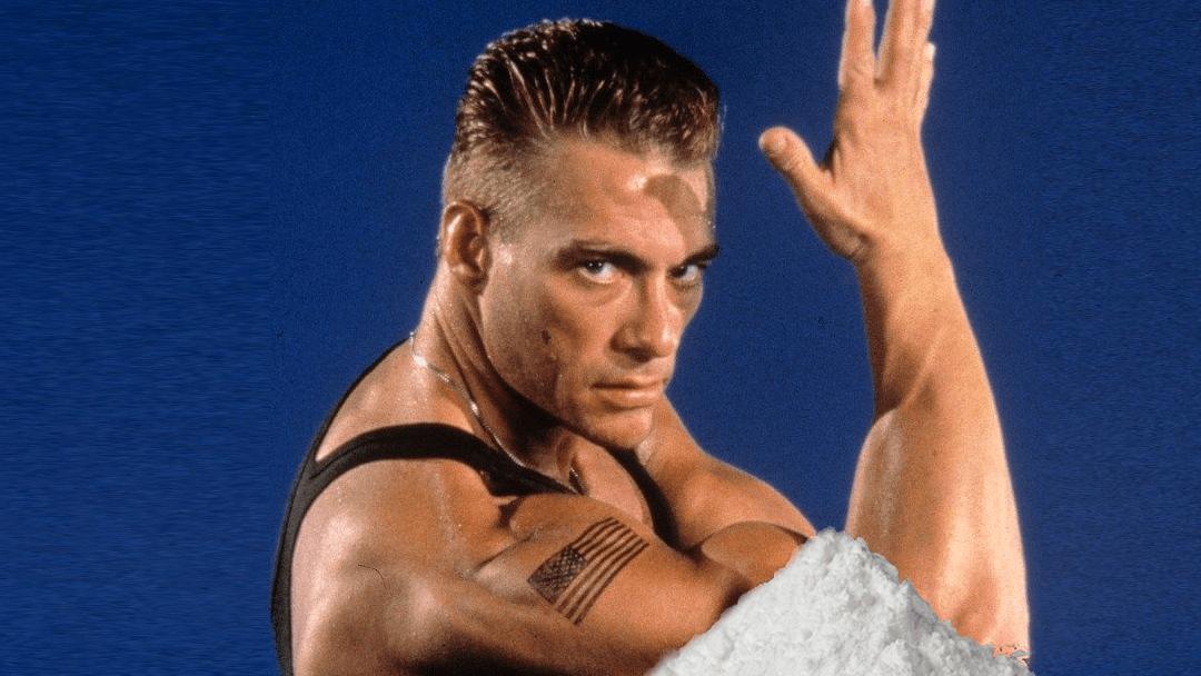 El gran Jean CLaude con un gramo de Cocaina