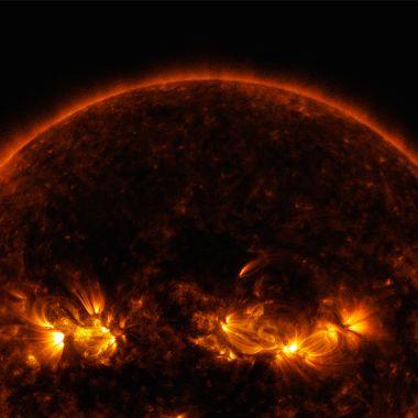 Una vista panoramica del Sol, nuestra estrella