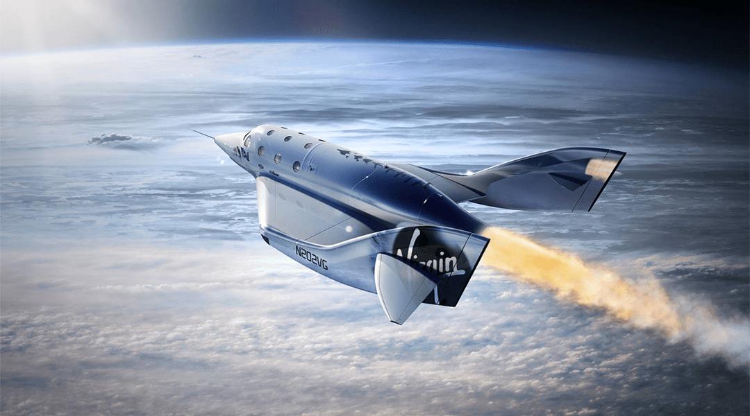 Una nave de la compañía espacial Virgin Galactic