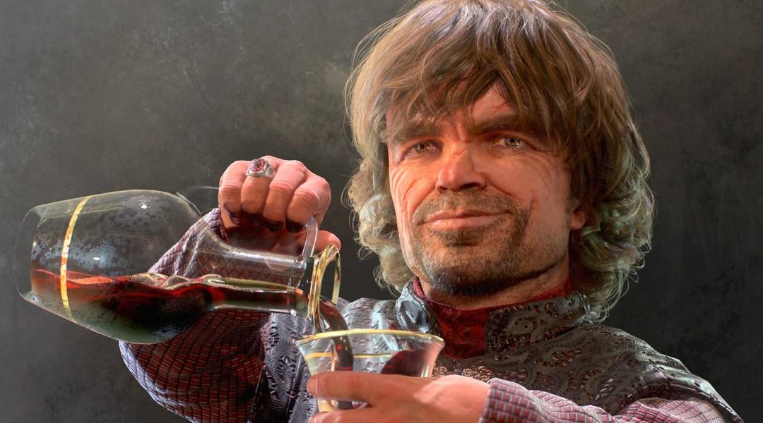 Tyrion bebiendo ilustración