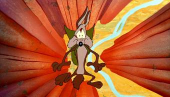 Fragmento de caricatura de El Coyote y el Correcaminos