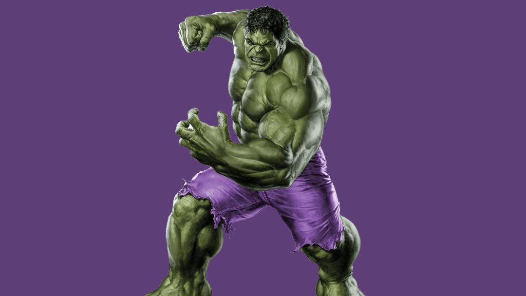 Hulk y sus famosos pantalones morados