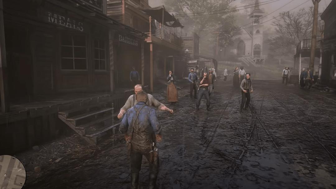 una escena de Red Dead Redemption 2