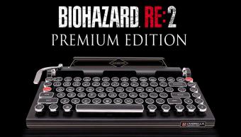 El teclado en forma de Máquina de escribir de Resident evil