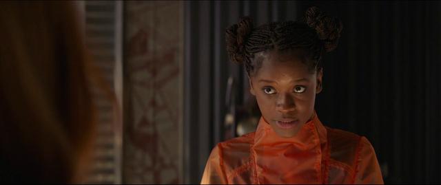 Shuri (Letitia Wright) la hermana genio de Black Panther, durante Infinity War.