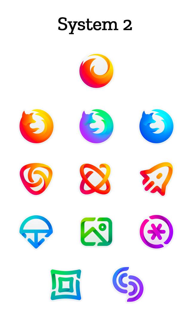Segunda opción de la iconografía para Firefox (Mozilla)