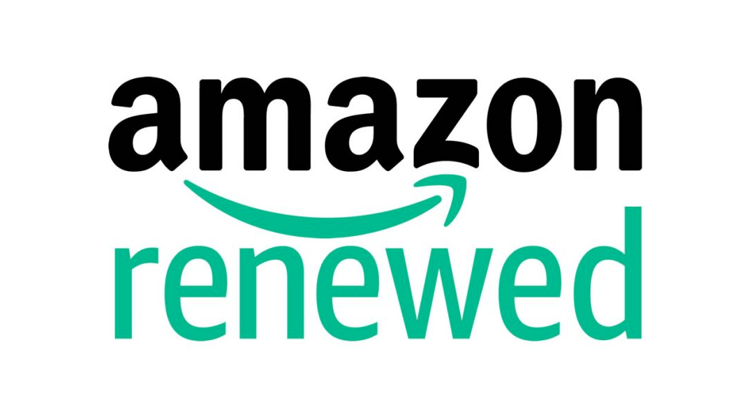 El logo oficial de Amazon Renewed