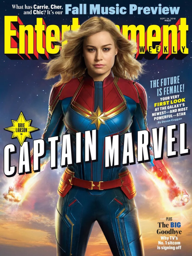 Portada de Brie Larson como Capitana Marvel de Entertainment Weekly