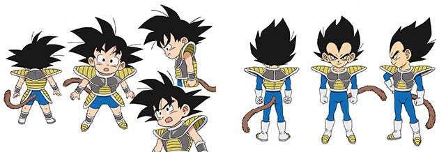 Goku y Vegeta como niños (Toei Animation)