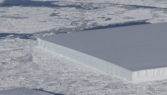 Misterio que esconde el iceberg rectangular que captó NASA