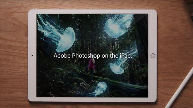la versión de escritorio de Photoshop llegará al iPad