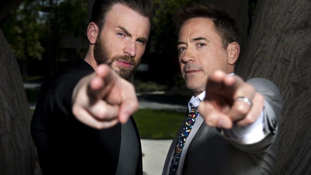 Robert Downey Jr. y Chris Evans