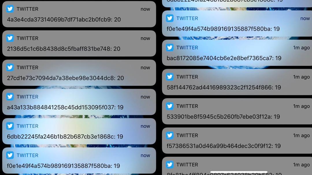 Twitter mensaje código