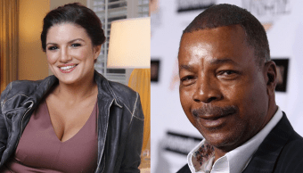 Gina Carano y Carl Weathers en The Mandalorian