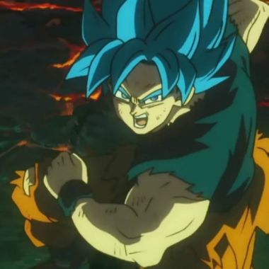 goku con todo su poder en Dragon Ball Super Broly