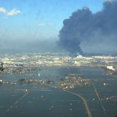 Sendai después del tsunami provocado por el Gran Terremoto Japones (U.S. Navy photo/Released)