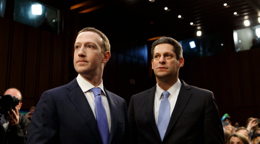 Joel Kaplan y Mark Zuckerberg. (Crédito Tom Brenner / The New York Times)