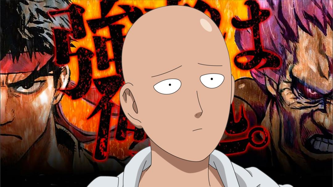 Saitama con los personajes de Street Figther
