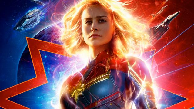 Póster promocional de película Capitana Marvel