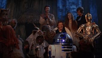 La escena final de Star Wars Retorno del jedi