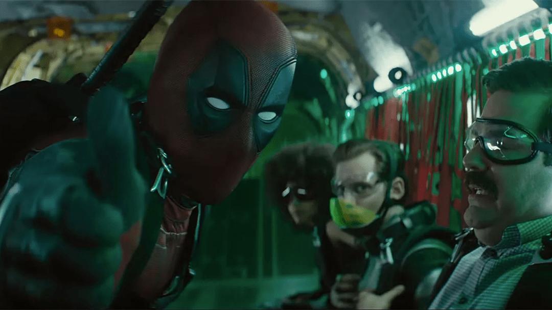 Deadpool con la x Force en una escena de Deadpool 2