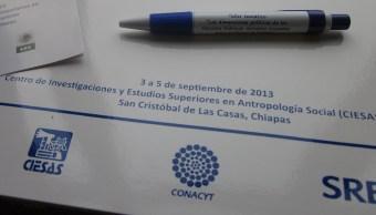 Diploma de Conacyt por un curso realizado en Chiapas
