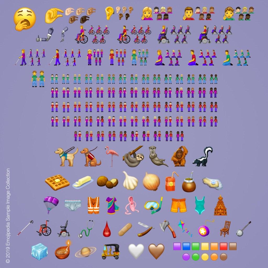 Emojis, Unicode, 2019, Lista