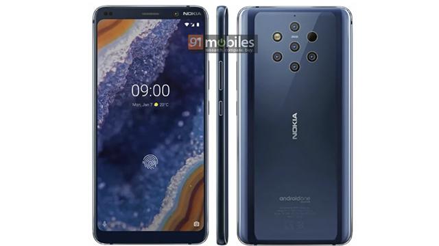 Nokia 9, PureView, Cinco Cámaras, Lector Huellas
