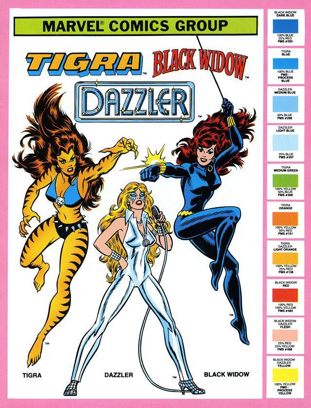 Tigra y Dazzler