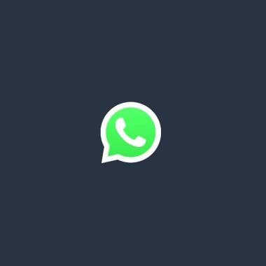 El logo oficial de WhatsApp en un comercial