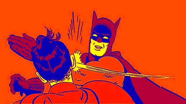 Batman es un fascista que golpea niños
