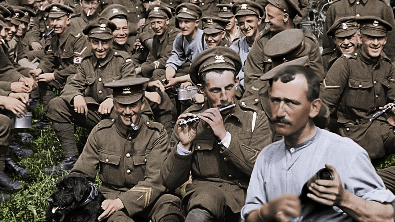Imagen del frente de batalla de la Primera Guerra Mundial