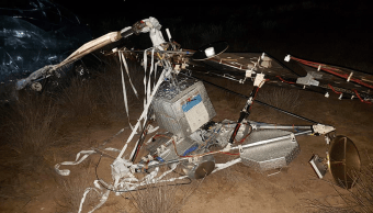 El satélte que se colapsó en Baja California Sur