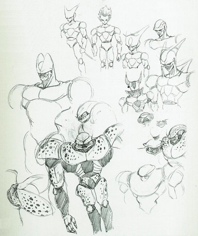 Bocetos originales de Cell