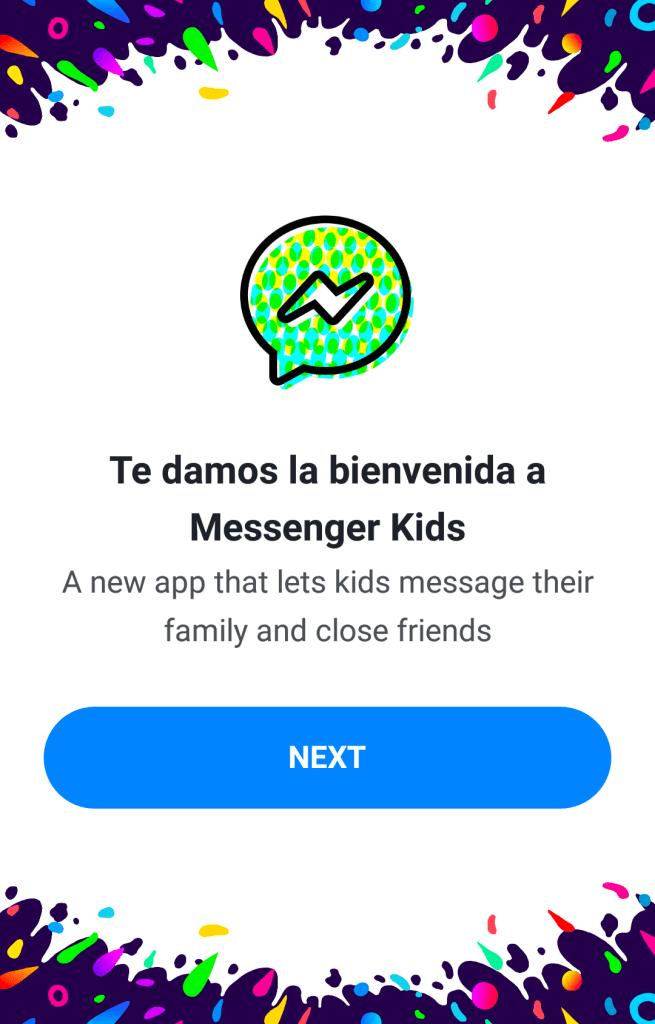 Messenger, Kids, Cuenta, Crear