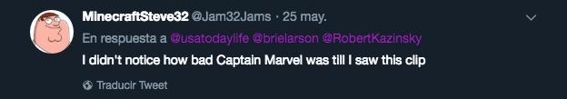 Captain Marvel, Escena Borrada, Carol Danvers, Twitter