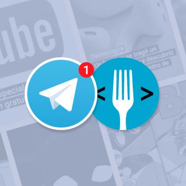 Logos de Telegram y Código Espagueti juntos