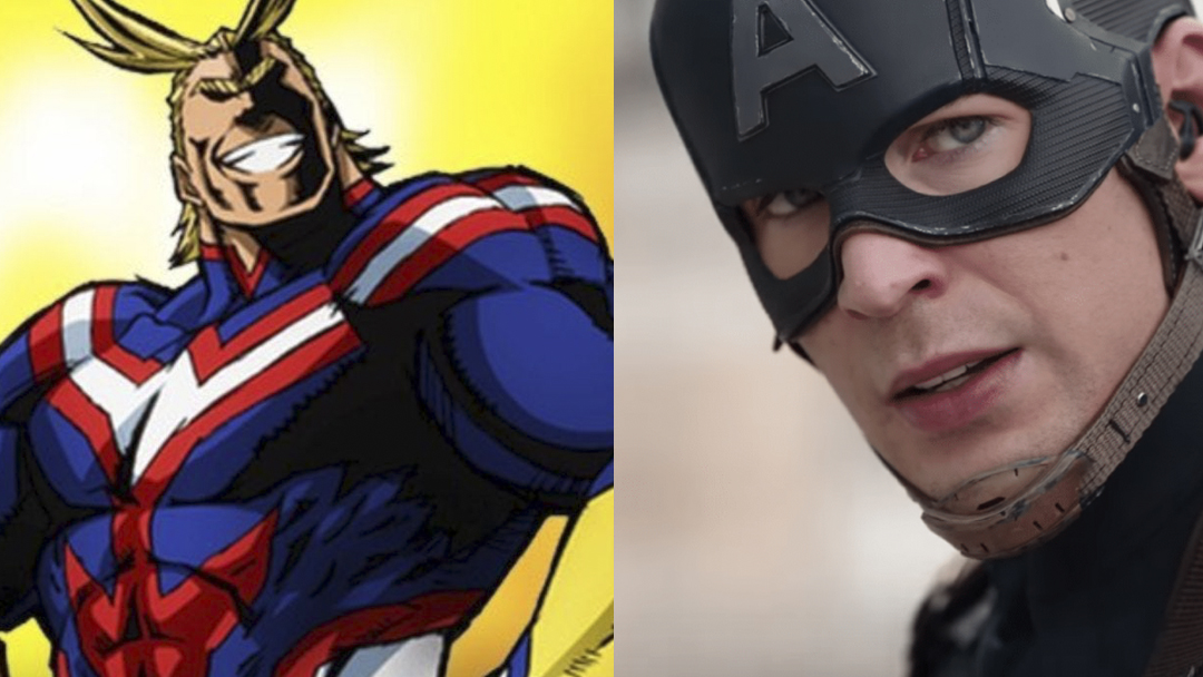Captain America, All Might, Avengers, My Hero Academy
