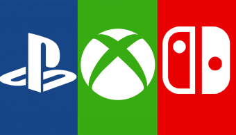 Los logos de PlayStation, Xbox y Nintendo Switch