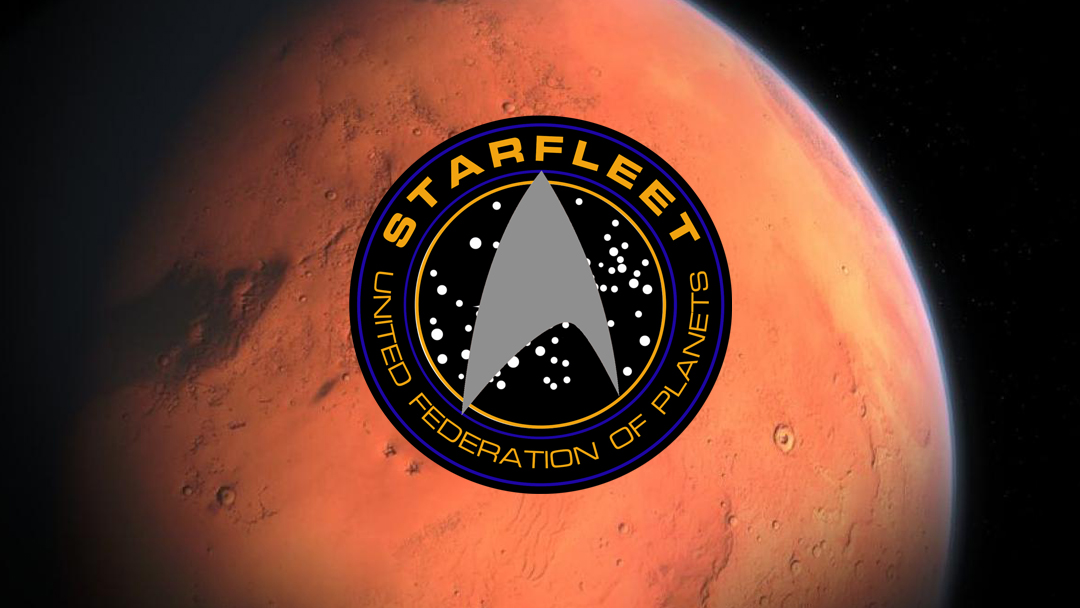 NASA, Star Trek, Marte, Símbolo