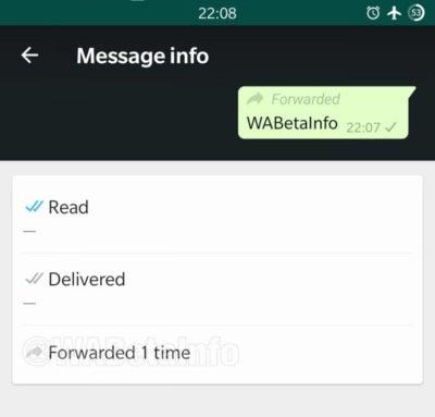 WhatsApp, Mensajes, Reenviados, Android