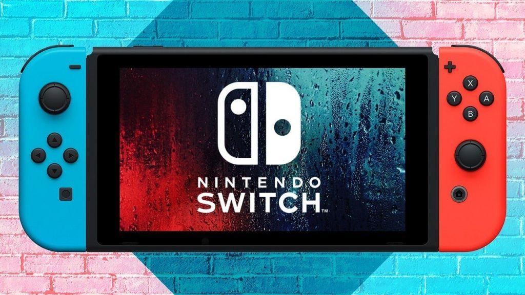Consola de Nintendo Switch con el logo de la marca