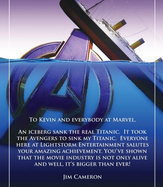 James Cameron felicita a Avengers: Endgame